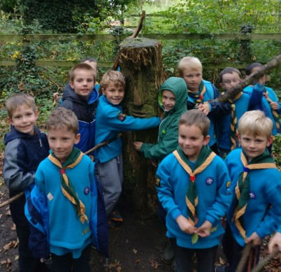 Beavers find the Green Man